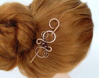 Small Hair Clip Hair Pin Hair Jewelry Hair Stick Copper Hair Stick Clip Slide Women Gift Hair Accessories Shawl Pin Scarf pin Sweater Brooch