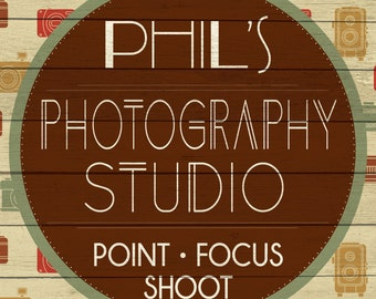 Custom Photography Studio Sign Digital Download