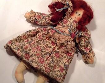 Set of Three Vintage Hand-sewn Dolls