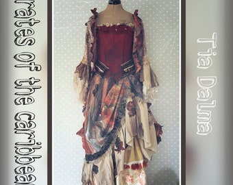 Dress inspired by Tia Dalma Pirates of the Caribbean