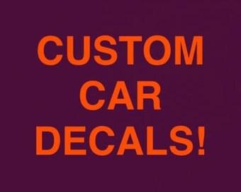 Custom car & laptop decals!
