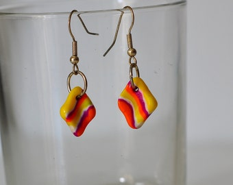 Earrings of parts of fimo