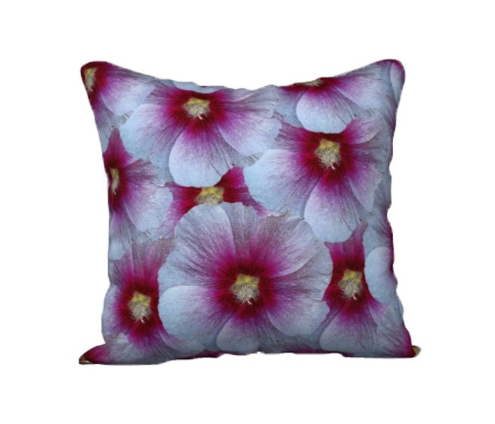 Purple Floral Pillow Cover Case Throw Cover Flower Decorative