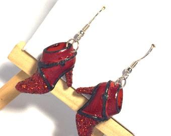 Barbie Shoe Earrings, Dorothy Boots, 80s Earrings, Barbie Earrings, 80s Fashion, 80s Jewelry