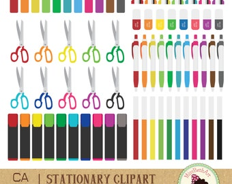 Pen/ stationary Clipart - Instant Download