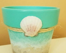 Ocean Shell Flower Pot