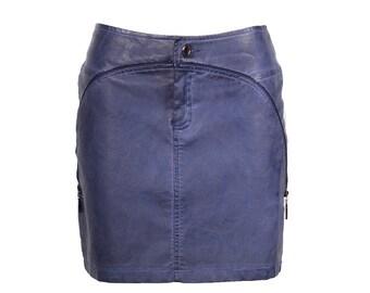 Skirt short imitation leather