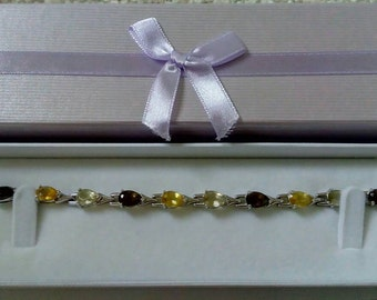 Silver 925 Gemstone Bracelet