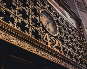 Louisville Photography, Louisville, Ornate Building, Gold, Clock, Architectural Photography, Ornate, Architecture, Gold Inlay, Gold Clock