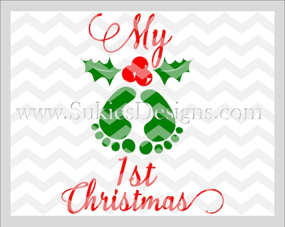 My 1st Christmas Svg File For Cricut And Cameo Dxf For