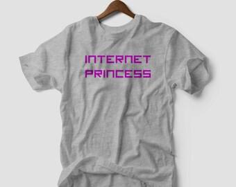 Internet Princess  T Shirt web wifi nerd  funny tee geek kawaii fun dope