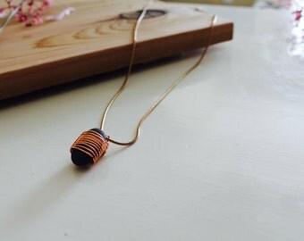 Nicole No. 2 // Copper Wire Wrapped Beach Rock Necklace