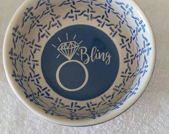 Ring / Jewelry Holder Dish - Customized, Monograms, Personalized