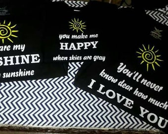 You Are My Sunshine Matching Shirt Set