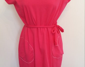 Coltone hot pink jersey Maxi sweater