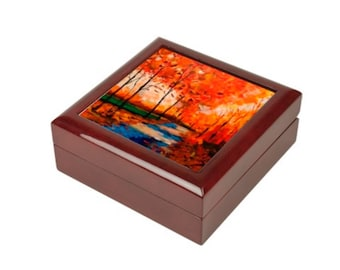 "Wooden Jewlery Box ""My Forrest"""