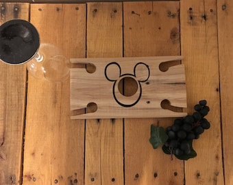 Mickey Mouse Wine Glass and Bottle Holder