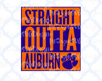 Straight Outta Auburn SVG,EPS,PNG,Studio