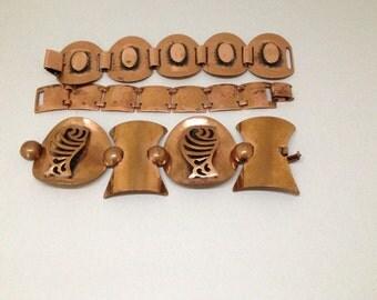 Lot of Vintage Copper Bracelets