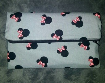 Minnie Mouse clutch,Disney,Mickey Mouse,clutch,purse,bag,accessories,gift idea