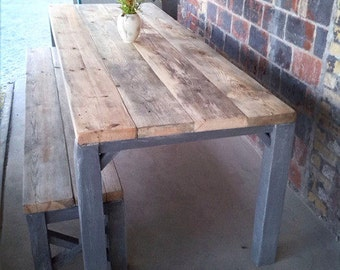 Table in cottage style of lumber Julian 200 x 100 cm