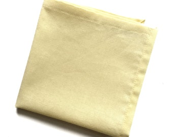 Soft Yellow Solid Color Pocket Square
