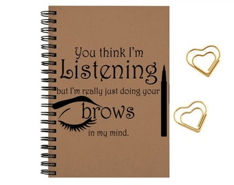 Notebook-journal Funny make up quotes, travel notes, size 5x8