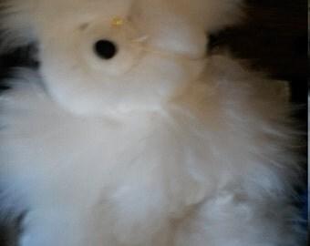 Alpaca fleece teddy bear