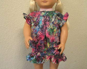 "Jeans Skirt Set for 18"" dolls like AG and Our Generation"