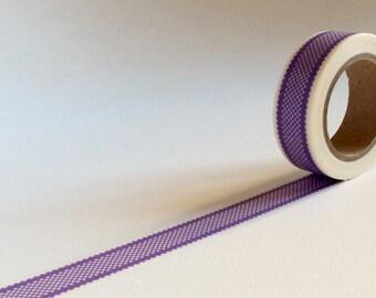Purple lace effect washi tape