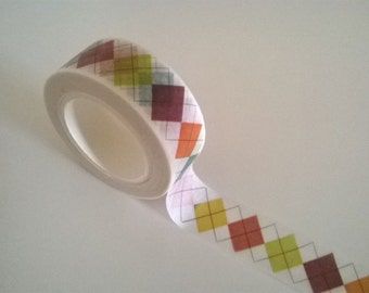 Argyle pattern washi tape