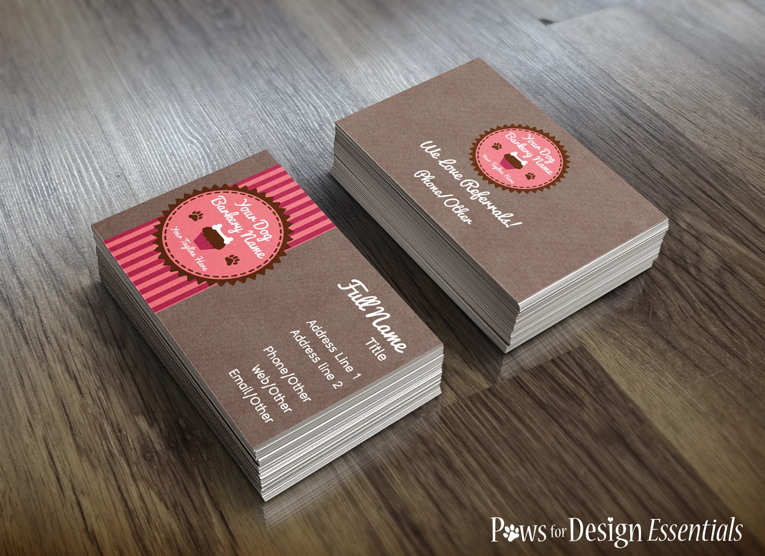 Premade Pet Bakery Business Cards Pupcakes pet bakery dog