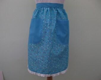 Floral waistline apron