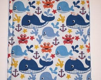 Whale Burb Cloth