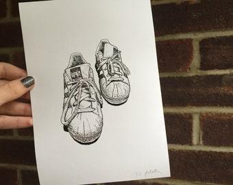 Adidas Superstars Trainers Illustration