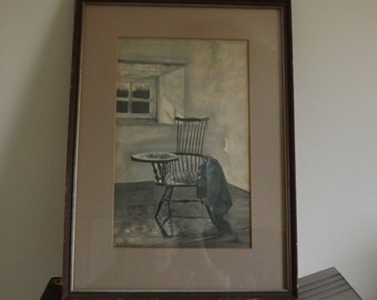 "Andrew Wyeth lithograph "" Early October """