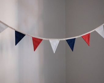 Bunting in Americana Red White and Blue Cotton Solid Fabric
