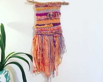 SALE// woven wall hanging// Indian Summer