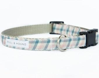 Dog Collar-Pink, White & Blue Plaid