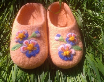 felted Slippers 100% wool
