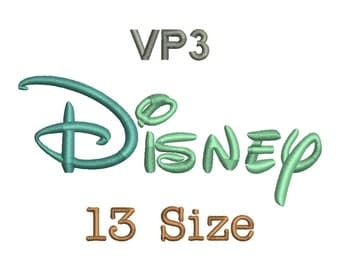 Disney Embroidery Font - 13 Size Monogram Fonts VP3 File Format Machine Embroidery Fonts Design -  Instant Download