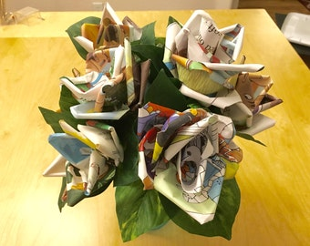 Storybook Paper Roses (one dozen)