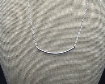 Silver tube necklace