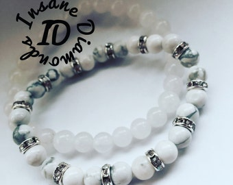 Howlite Jade Bracelet Set