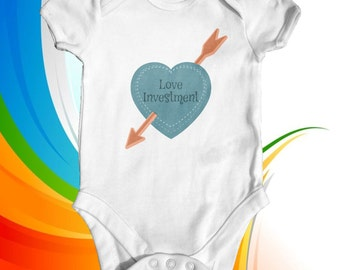 Love Investment baby bodysuit | baby boy clothes | baby shower gift | funny baby bodysuit | newborn baby clothes | cute baby clothes