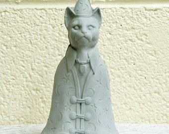 Ceramic Cat Wizard Mystical Home Decor or Garden Statue