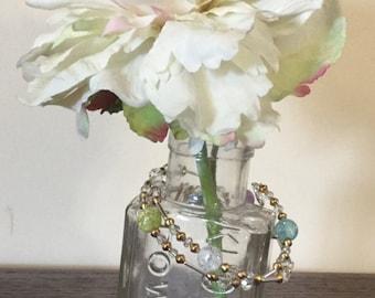 Pastel gold and silver bracelet