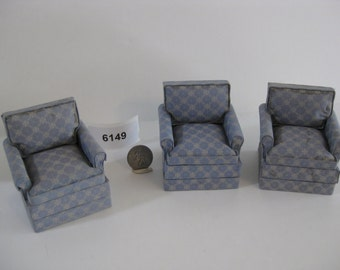 Blue Upholstered Chairs 6149