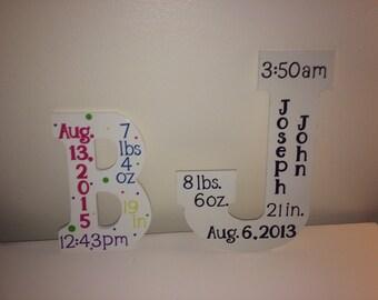 Birth Stats Initial Wall Decor Part 91