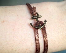Leather attached by an anchor strap